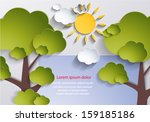 abstract nature background.... | Shutterstock .eps vector #159185186