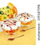 tasty jelly on table on white... | Shutterstock . vector #159187598