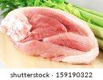 raw pork ham  pork leg | Shutterstock . vector #159190322