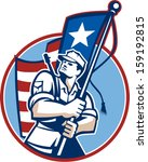 illustration of an american... | Shutterstock .eps vector #159192815