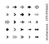 set of black arrows. collection ... | Shutterstock .eps vector #1591943662