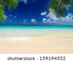 tropical sea under the blue sky | Shutterstock . vector #159194552