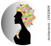 aromatherapy flower girl... | Shutterstock .eps vector #15920839