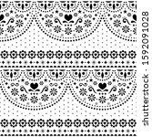 mexican folk art vector... | Shutterstock .eps vector #1592091028