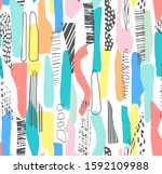 hand drawn surface design.... | Shutterstock .eps vector #1592109988