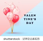 happy valentines day card... | Shutterstock .eps vector #1592118325