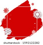christmas poster with blobs... | Shutterstock .eps vector #1592122282