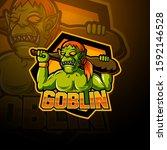 goblin esport mascot logo design   Shutterstock .eps vector #1592146528
