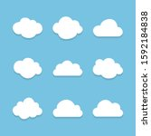 vector illustration of clouds... | Shutterstock .eps vector #1592184838