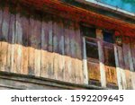 The Ancient Wooden Windows...