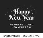 happy new year  we will be...   Shutterstock .eps vector #1592218792