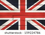 great britain flag painted on... | Shutterstock . vector #159224786