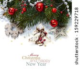 bright christmas composition... | Shutterstock . vector #159229718