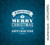 merry christmas postcard... | Shutterstock .eps vector #159229892
