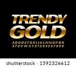 vector trendy gold alphabet... | Shutterstock .eps vector #1592326612