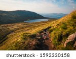 View On Mountain Path In The...