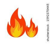 fire in flat style....