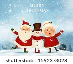 merry christmas. happy new year.... | Shutterstock .eps vector #1592373028