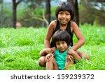 portrait of two latin american... | Shutterstock . vector #159239372