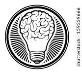 light bulb idea with brain... | Shutterstock .eps vector #159239666