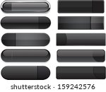 set of blank black buttons for... | Shutterstock .eps vector #159242576