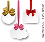 gift cards with ribbons and... | Shutterstock .eps vector #159242582
