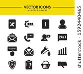 service icons set with document ...