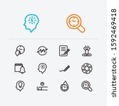 work icons set. mediate and...