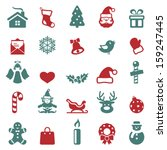 christmas icons set.vector