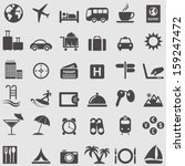 travel  and tourism icons set.... | Shutterstock .eps vector #159247472