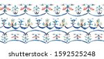 watercolor seamless border with ...   Shutterstock . vector #1592525248