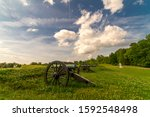 APRIL 29, 2019 - VICKSBURG, MISS., USA - Vicksburg National Military Park and National Cemetery, Vicksburg, Mississippi  - honoring memory of Civil War