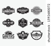 vintage vector logo labels  ... | Shutterstock .eps vector #1592680072