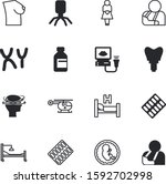 clinic vector icon set such as  ... | Shutterstock .eps vector #1592702998