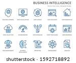 set of business intelligence... | Shutterstock .eps vector #1592718892