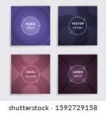 gradient vinyl records music... | Shutterstock .eps vector #1592729158