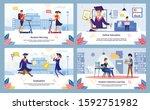 students morning  online...   Shutterstock .eps vector #1592751982