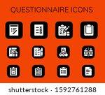 questionnaire icon set. 12...