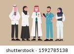 set illustration arabian... | Shutterstock .eps vector #1592785138