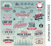 christmas set   labels  emblems ... | Shutterstock .eps vector #159282332