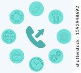 outgoing call vector icon sign...