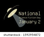 national science fiction day...   Shutterstock .eps vector #1592954872