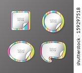 trendy vector labels set  | Shutterstock .eps vector #159297518