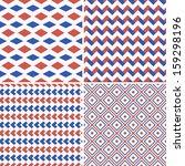 geometric seamless patterns set.... | Shutterstock .eps vector #159298196