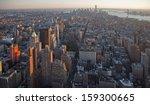 Sunset On Manhattan Island From ...