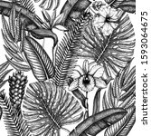 Tropical Flora Seamless Pattern....