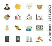 business icons and finance... | Shutterstock .eps vector #159310025