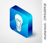 isometric light bulb icon...   Shutterstock . vector #1593100918