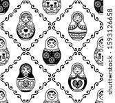 russian nesting doll vector... | Shutterstock .eps vector #1593126658