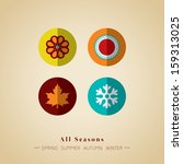 four seasons icon symbol vector ... | Shutterstock .eps vector #159313025